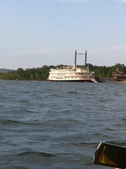 A Beautiful View of the Showboat Branson Belle while on Table Rock Lake - Ride the Ducks BRanson