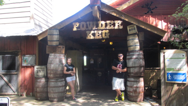 The Powder Keg entrance at Silver Dollar City in Branson