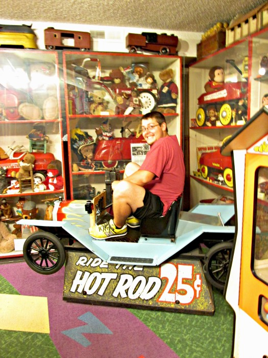 Old Ride on toys at the Toy Museum