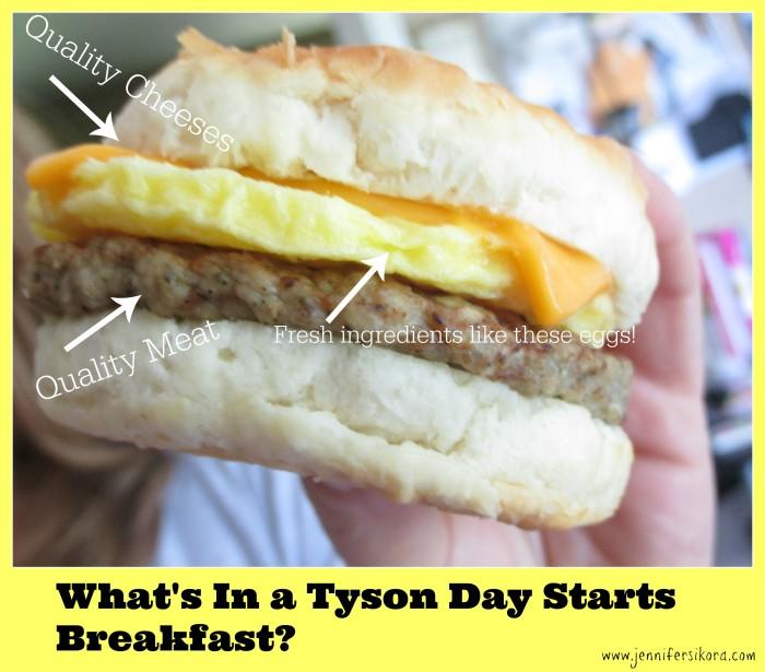 What's in a Tyson Day Starts breakfast #StartWithTyson #Cbias