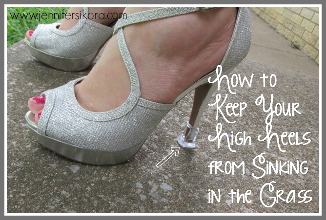 How to Keep Your High Heels from Sinking in the Grass