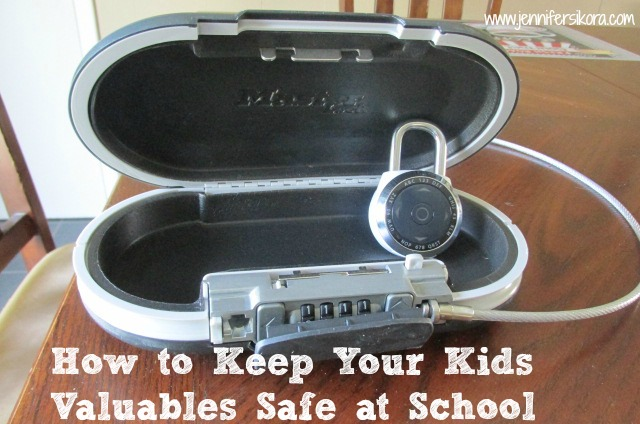 How to Keep Your Kids Valuables Safe at School