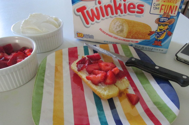 Strawberries pare well with Twinkies.