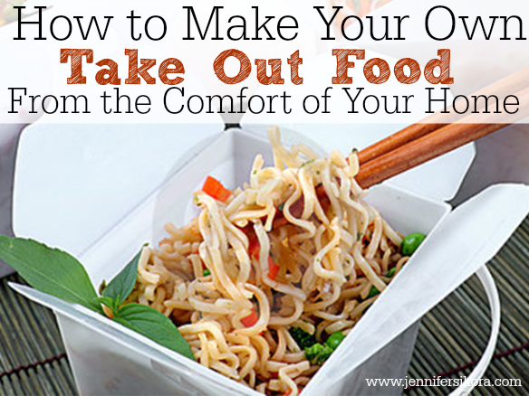 Take out food at home