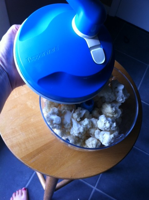 Cauliflower Rice is easy to make when you use the Tupperware Chef Pro System