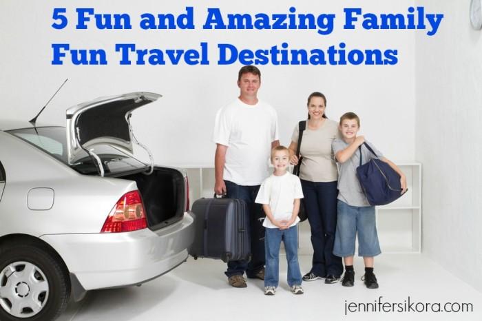 Happy family fun road trip