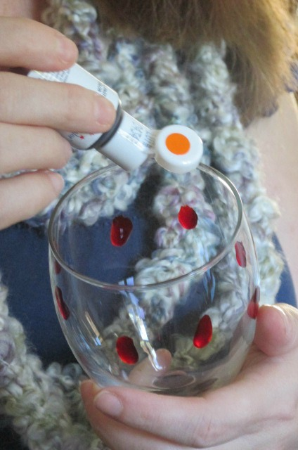 Add blood drops to a cup using red or orange food coloring. It really adds that spooky look to your Halloween snacks #SpookySnacks #Shop #Cbias