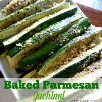 Baked Parmesan Zuchinni