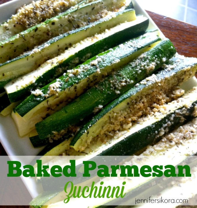 Baked Parmesean Zuchinni