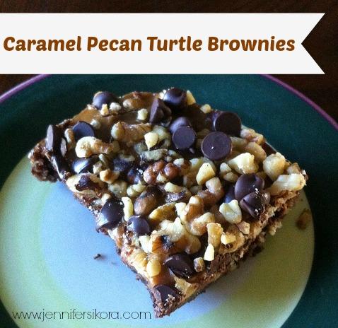 Caramel Pecan Turtle Brownies