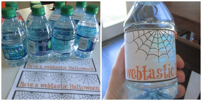 Create a cute and fun water bottle label for your party #SpookySnacks #Shop #cbias