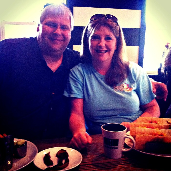Our romantic breakfast at Brick and Spoon in Orange Beach