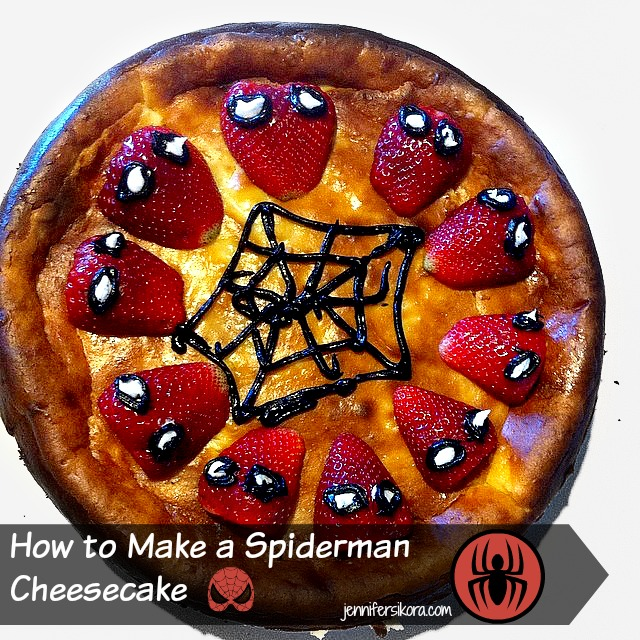 How To Make A Spiderman Cheesecake