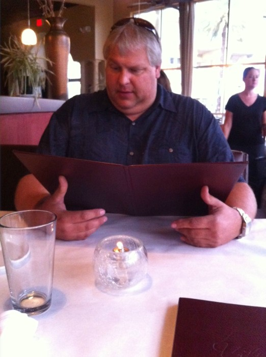 Stephen and I at dinner at Villaggio Grille