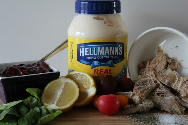 Ingredients for cranberry mayonnaise