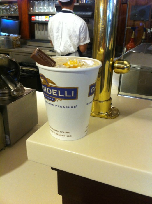 Salted Caramel Hot Cocoa from Ghirardelli Square