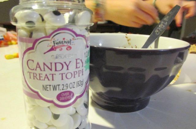 Turkey Rice Krispie Candy Eye Treats