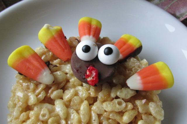 Turkey Rice Krispie Face