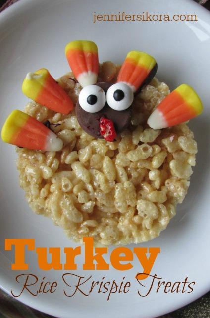 Turkey Rice Krispie Treat Cookies