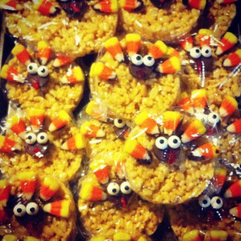 Turkey Rice Krispie Treat Cookies - The Perfect Kid Friendly Dessert