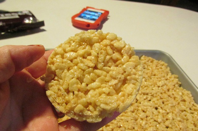 Turkey Rice Krispies cut into rounds