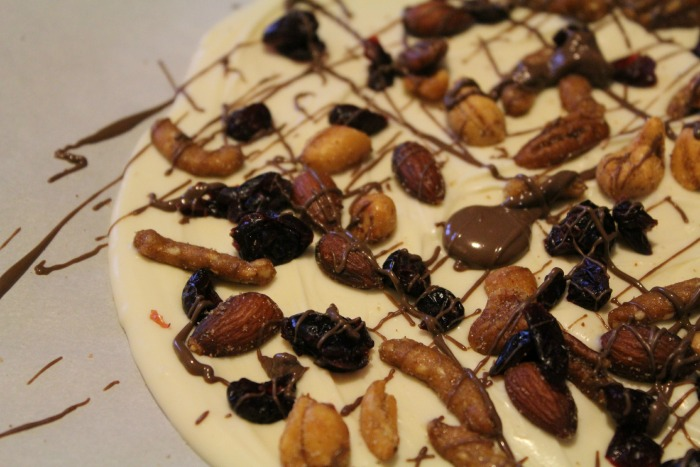 Creating a gorgeous peanutty Christmas Bark