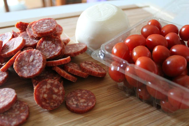 Ingredients for the Antipasto Kabobs