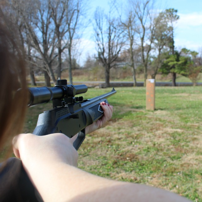 Jennifer with the Daisy BB Gun
