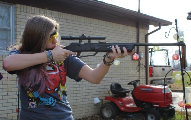 Kayla and her Daisy BB Gun 1