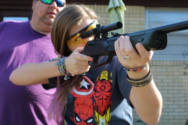 Kayla and her daisy bb gun