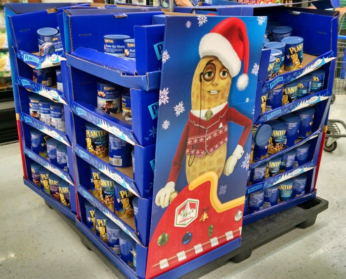 Planters-Sleigh-Display-in-Walmart