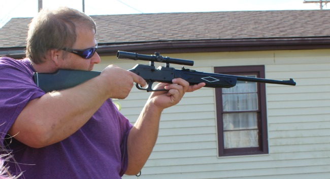 Stephen with the Daisy BB Gun