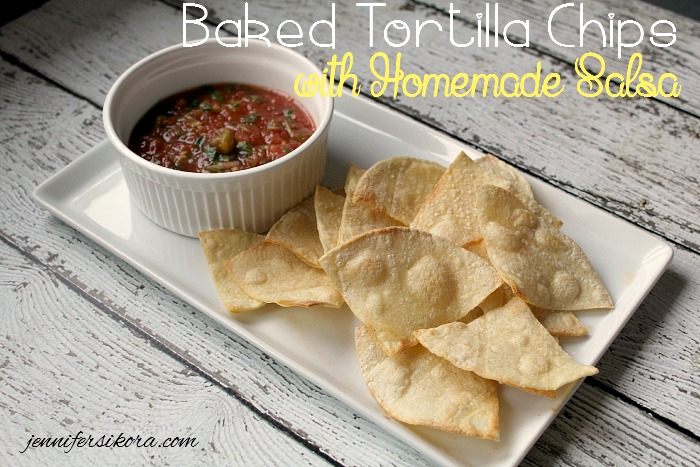 Baked Tortilla Chips with Homemade Salsa