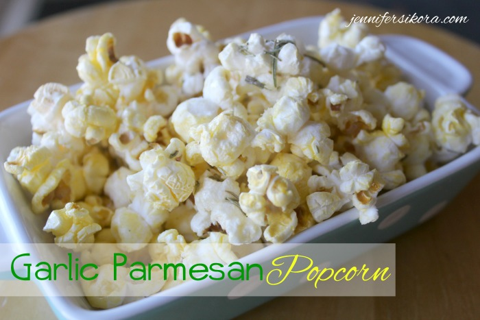 Garlic Parmesan Popcorn featuring Franklin's Gourmet Popcorn