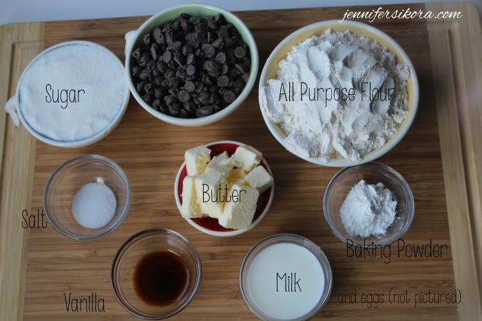 Ingredients List for Chocolate Chip Scones
