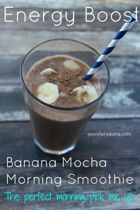 Energy Boost Banana Mocha Morning Smoothie