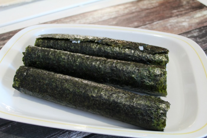 Sushi rolls before cut