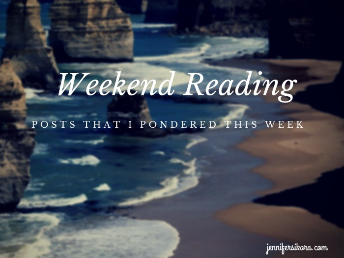 Weekend Reading – What Inspired Me This Week