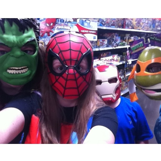 Kayla with avengers