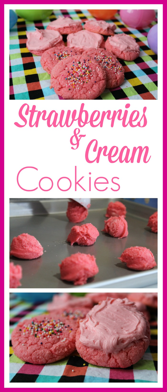 strawberries and cream cookies 1
