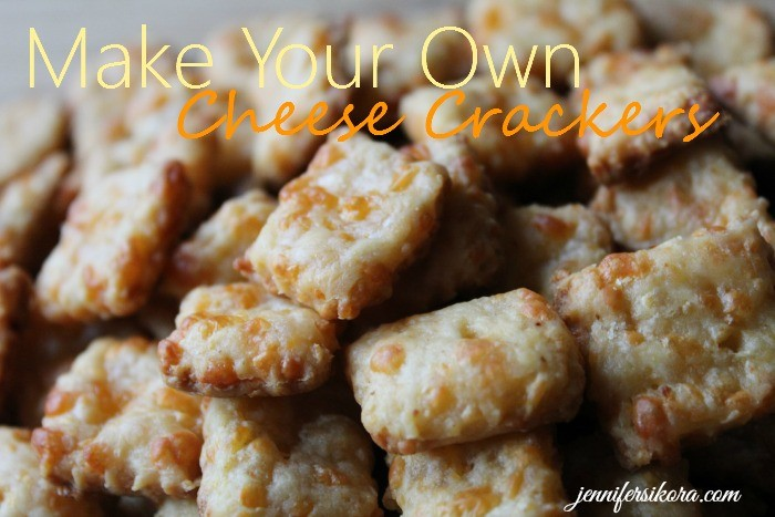 homemade cheese crackers. They taste better than any cheese cracker ...
