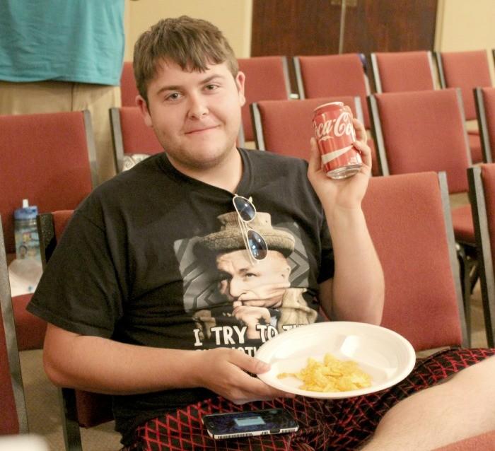 Jerod Robert with coke