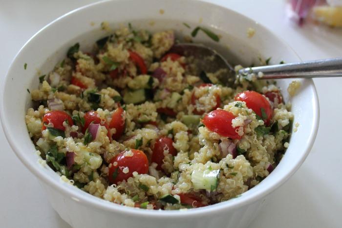 Quinoa salad mix together