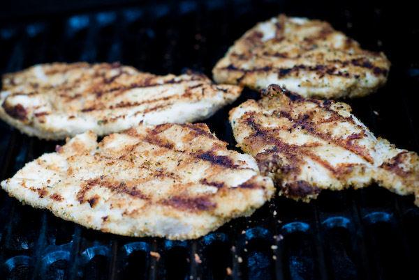 Turkey cutlets grilling