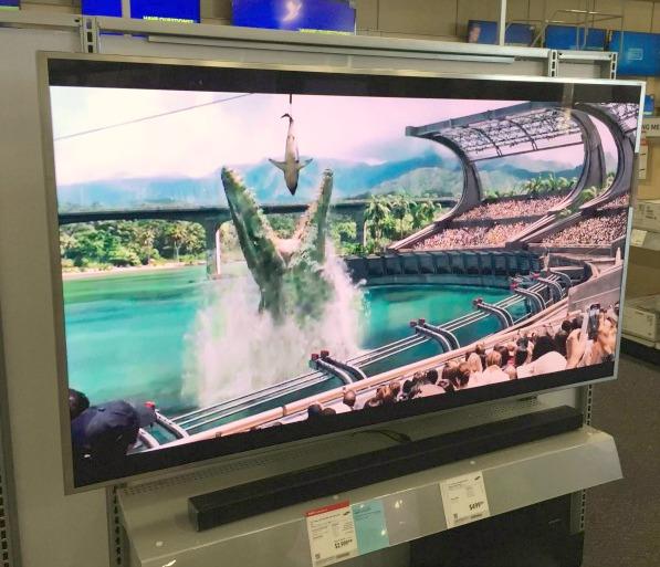 Best-Buy-Samsung-SUHD jurrasic world