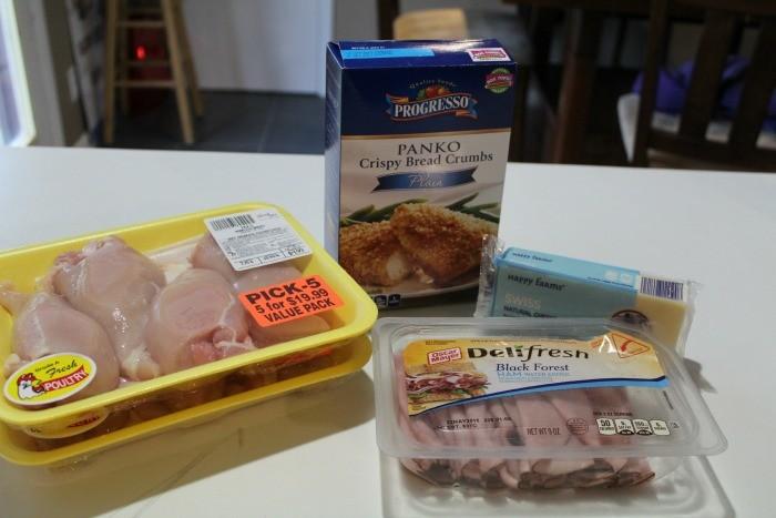 Chicken Cordon Bleu ingredients