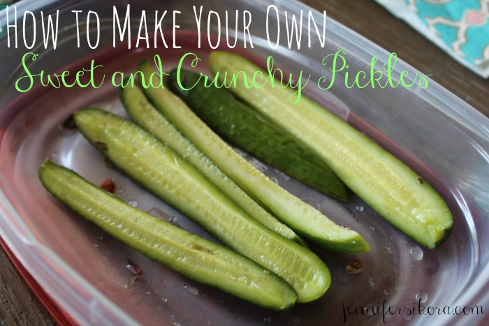 Sweet and crunchy Pickles