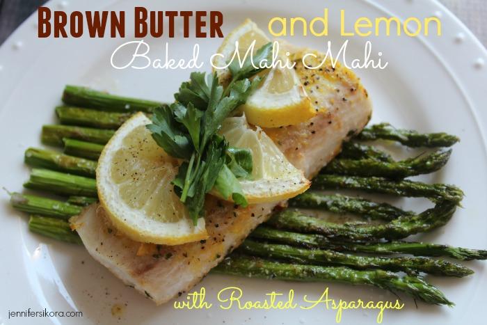 brown butter and lemon baked mahi mahi