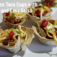 Chicken Taco Cups Featuring Red Gold Tomatoes Quick and Easy Salsa