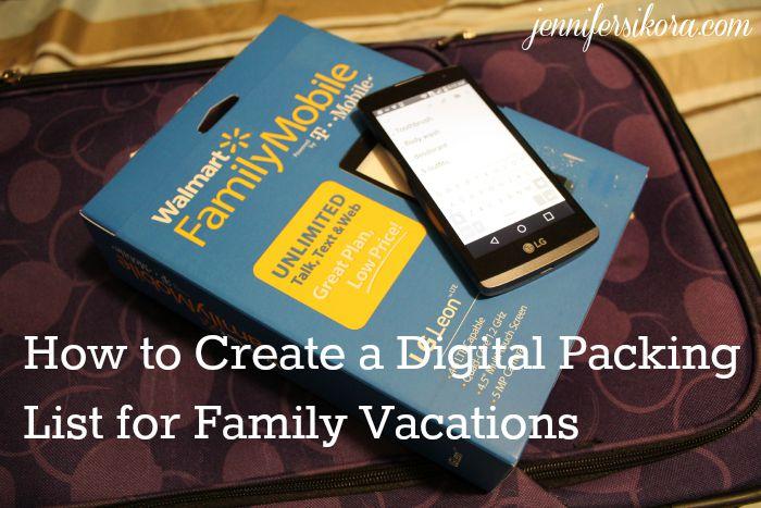 Digital packing list